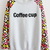 Grey Contrast Leopard Long Sleeve Coffee cup Sweatshirt