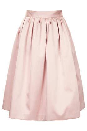 **LIMITED EDITION Duchess Satin Midi Skirt - Topshop