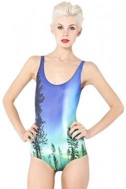 Aurora Sky Teddy Bikini Swimwear, Wholesale Cheap One-piece Swimwear