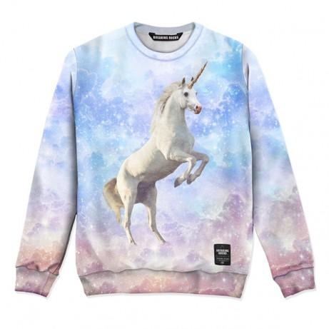 Intergalactic Unicorn Sweater | Breaking Rocks Clothing | Crazy comfortable full printed clothing.