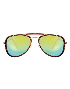 ASOS | ASOS High Bar Aviator Sunglasses With Mirrored Lens at ASOS