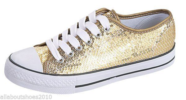 Kids' Sneakers Sequined Fashion Sneakers Gold or Red Stylish Girls' Shoes New | eBay