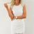 White Cocktail Dress - White Lace Overlay Dress with | UsTrendy