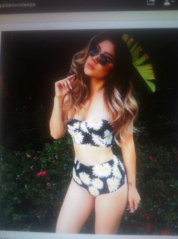 swimwear daisy bikini high waisted bikini