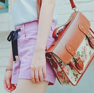 bag cute satchel satchel bag bag satchel beautiful bags beautiful bag brown flowers lovely adorable bag leather bag lovely bag