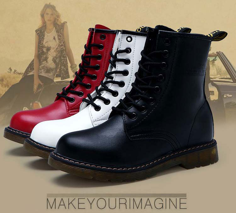 Aliexpress.com : Buy 2014 New Winter/Spring Ladies Lace Up Fashion High Top Genuine Leather Martin Boots, Women's Ankle Motorcycle Shoes No.SHB41002 from Reliable shoes with suppliers on Cheap Shoes Online!