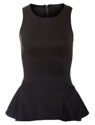 AX Paris Black Peplum Top