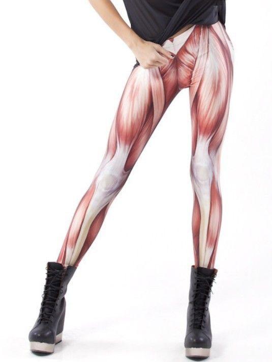 Women Sexy Muscle Universe Galaxy Printing Leggings Pants Elasticity   eBay