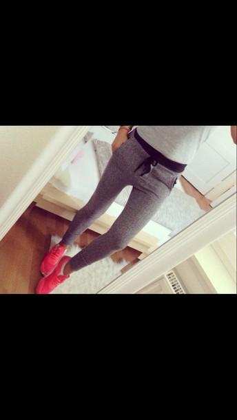 pants joggers sweatpants grey sweatpants sweatpants shoes
