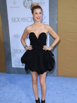 whitney port black dress dress
