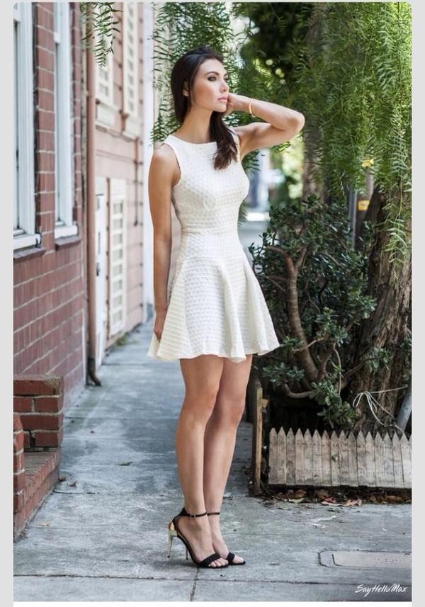 dress white dress short dress summer dress