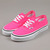 Vans Kids Authentic Trainers -Neon Pink/Tru Wht at Ozzys Clothing