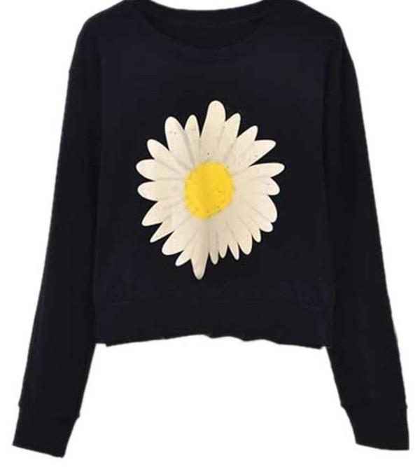 sweater daisy black