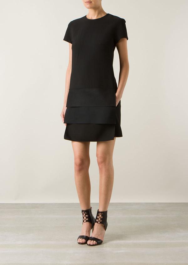 dress victoria beckham black dress