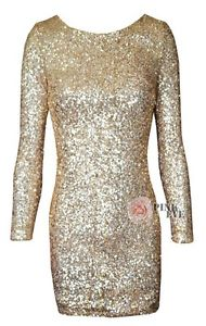 Elegant Sequin Beaded Dress Prom Wedding Cocktail Party Evening Dress Backless   eBay
