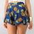 Tropical Pineapple Prints High Waisted Flare Skirty Mini Beach Shorts 6 8 10 12 | eBay
