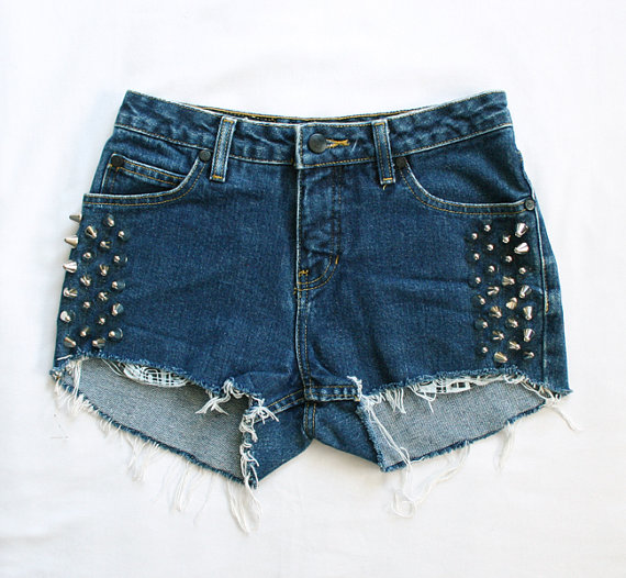 Spiked Sides Shorts Size Small by shopGeode on Etsy