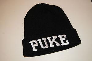 IRL LDN PUKE BEANIE HAT BLACK | eBay