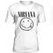 Nirvana smile black logo t-shirt - teenamycs