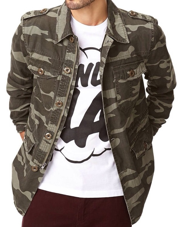 jacket camouflage shirt jeans swag