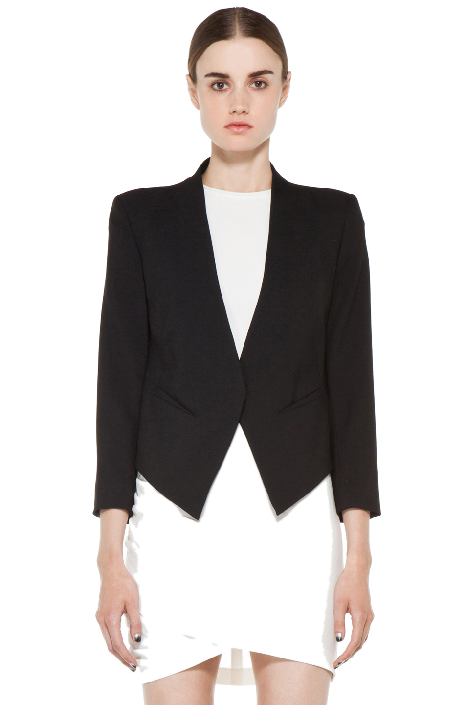 Helmut Lang|Smoking Wool Tux Blazer in Black