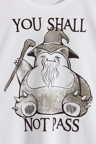 shirt relaxo you shall not pass pokemon the lord of the rings gandalf