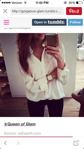blouse white silky top