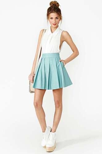 blouse cute skater skirt floaty beautiful summer