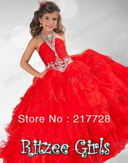 de la muchacha 2013 los vestidos de concurso nuevo balón vestido de princesa vestidos de abalorios bastante