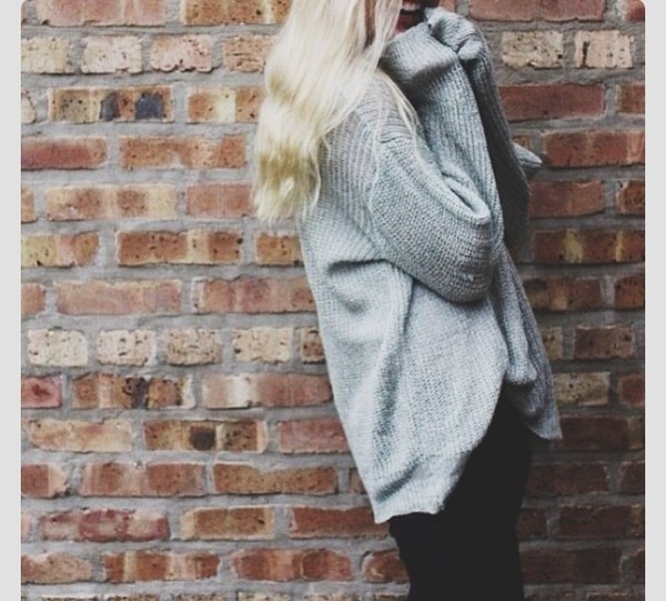 sweater oversized grey knit jumper sweater