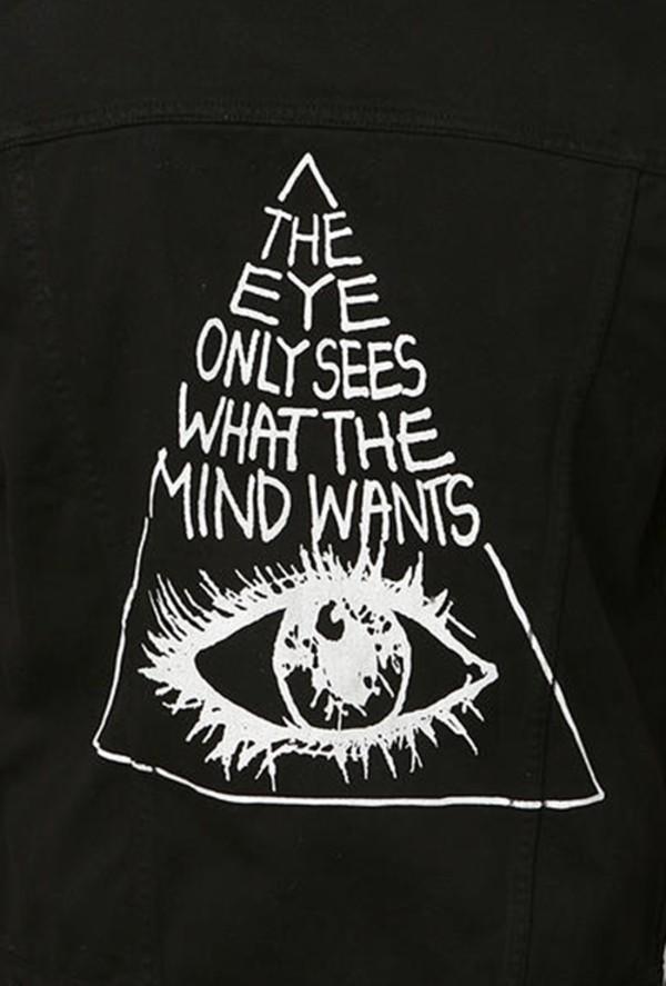 shirt black quote on it jacket blouse illuminati