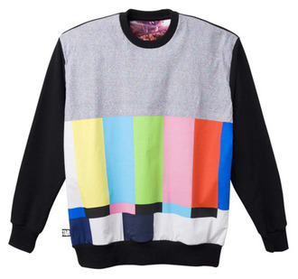 sweater roc star colorful colorblock sweater outerwear