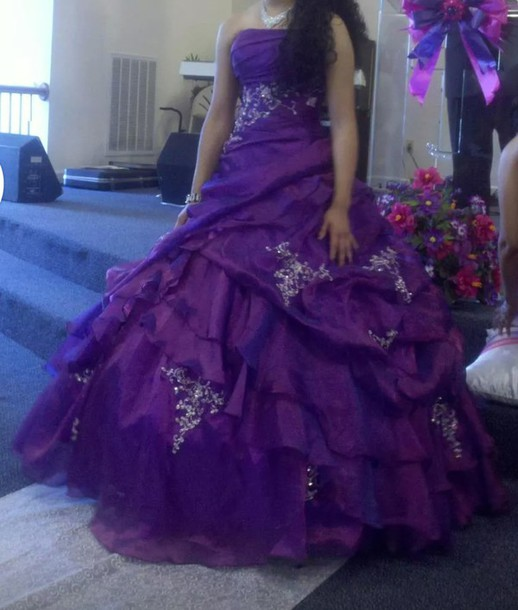 dress Purple Quinceanera Dresses