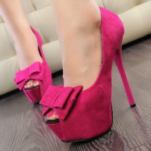 Ladies Bow Platform Pumps Open Toe High Heels Stiletto Evening Prom Shoes US3 7 | eBay