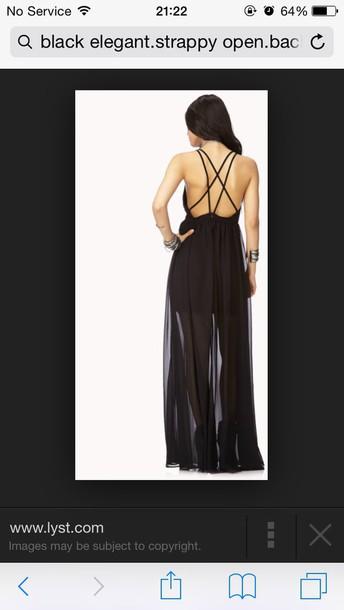 dress strappy long elegant floaty
