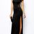 Modernist Fit & Flare Slit Maxi Dress [FXBI00574] - PersunMall.com