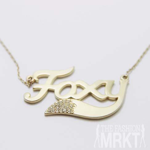 Wildfox Couture Foxy Gold Necklace / TheFashionMRKT