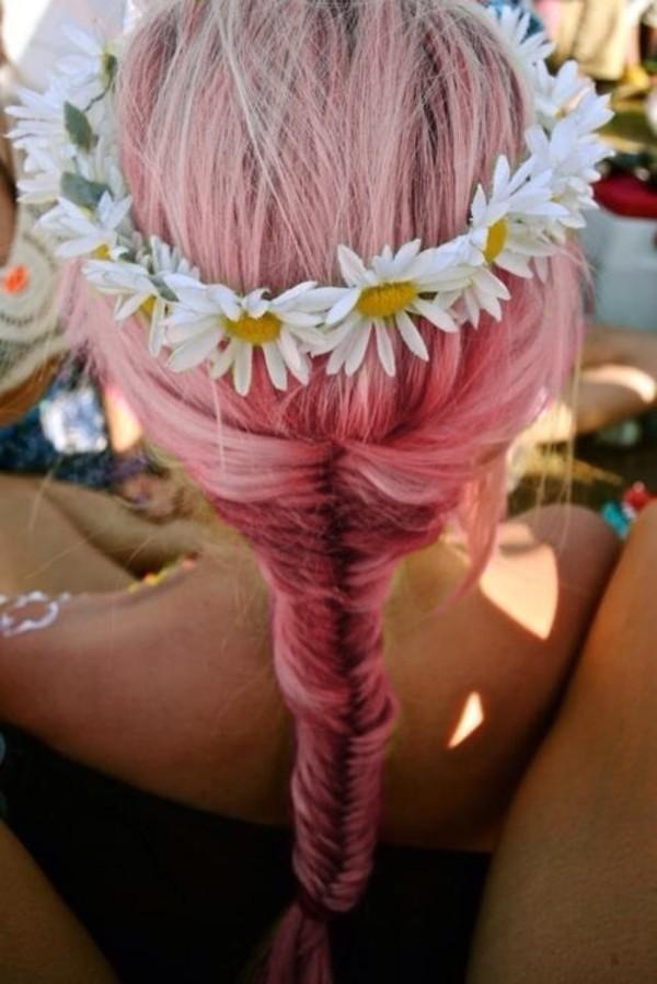 jewels daisy flowers flower headband hippie headband flower hair