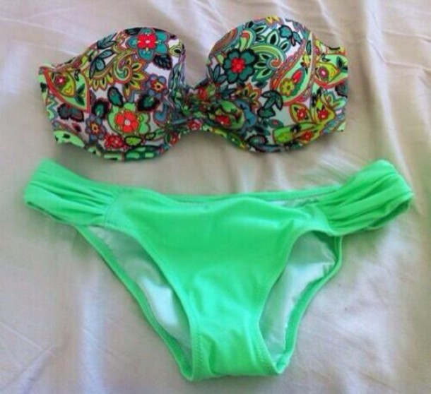 swimwear floral swimwear bikini summer outfits