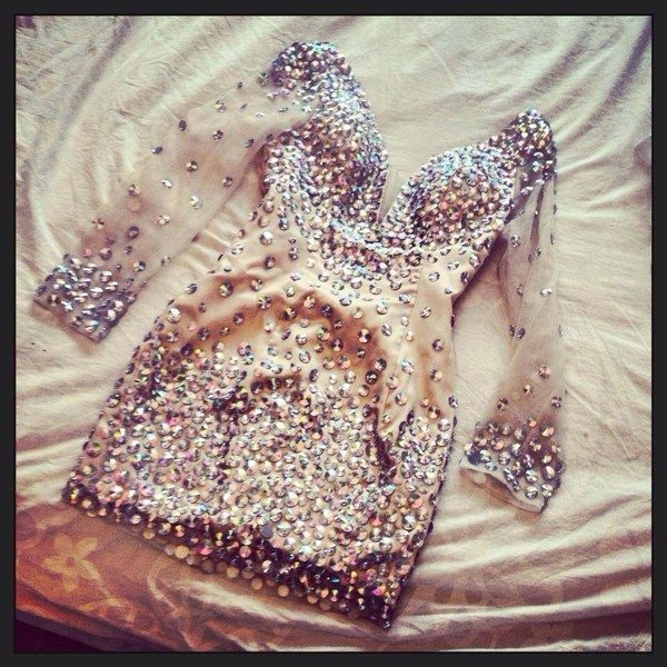 dress gemstone gems gems dress sparkly dress style see through dress nude dress