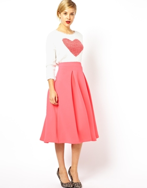 ASOS   ASOS Midi Skirt with Full Pleats at ASOS