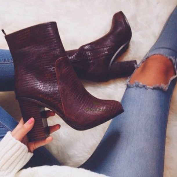 shoes leather boots