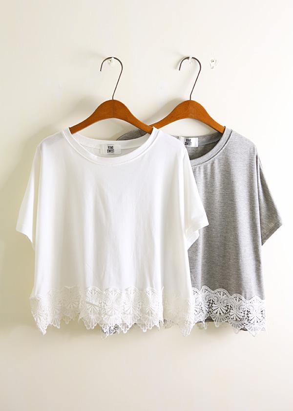bobo home summer 2013 Korean version of the retro elegant crochet lace short-sleeved t-shirt A639-ZZKKO