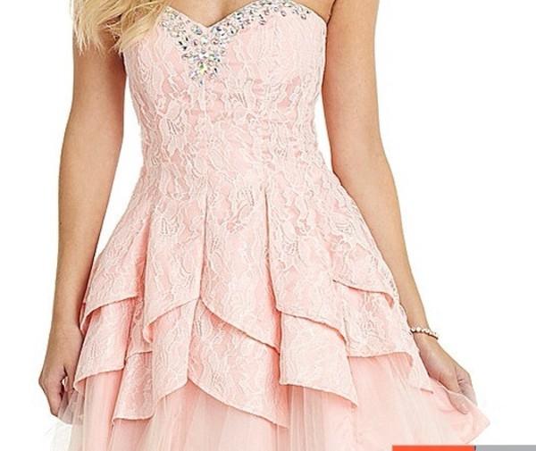 dress pink dress lace prom dress lace bodysuit