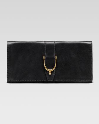 Gucci Soft Stirrup Leather Clutch Bag - Bergdorf Goodman