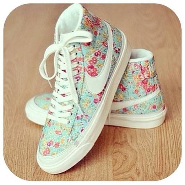 shoes nike shoes liberty flowers pastel white pink basket casual nikes high top nikes nike leopard print nike sportswear dress blue nike sneakers