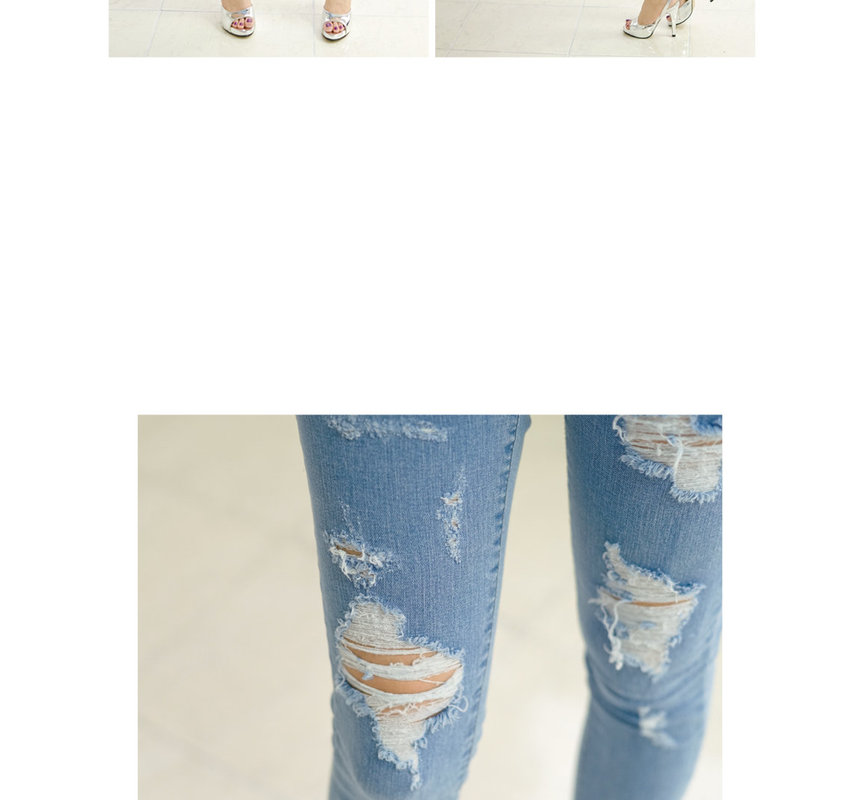 Distressed Skinny Jeans - 45SEVEN | YESSTYLE
