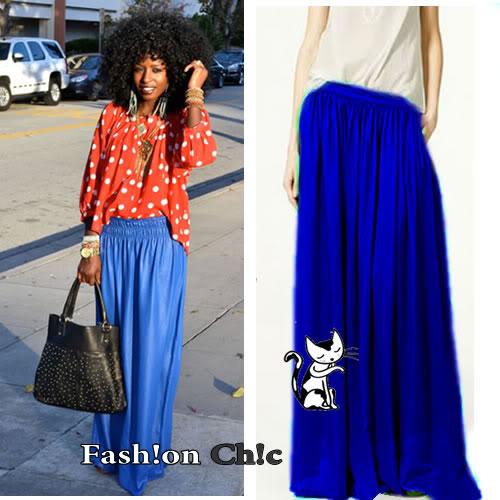 RB46 Blue Chiffon 2 Layers Maxi Skirt XS s M L | eBay