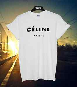 *** CELINE PARIS WHITE T SHIRT RIHANNA TOUR COMME HYPE GEEK TEE SHIRT TOP *** | eBay