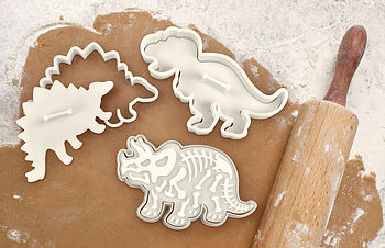 daddy dinosaur fossil cookie cutters by nest | notonthehighstreet.com